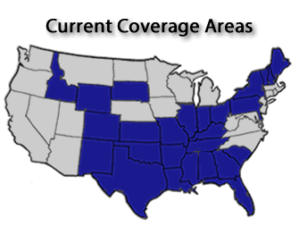 Coverage Area Map